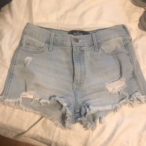 High Waisted Denim Shorts (stretchy)